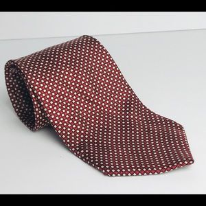 Tommy Hilfiger Tie Red Geometric Print 100% Silk